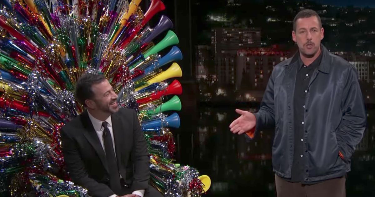 Adam Sandler surprised Jimmy Kimmel with the coolest