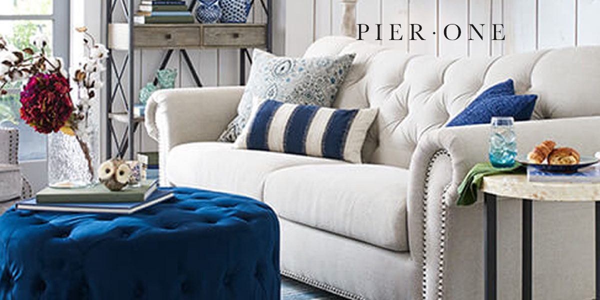 Pier One Furniture Sale offers up to 6% off couches, chairs