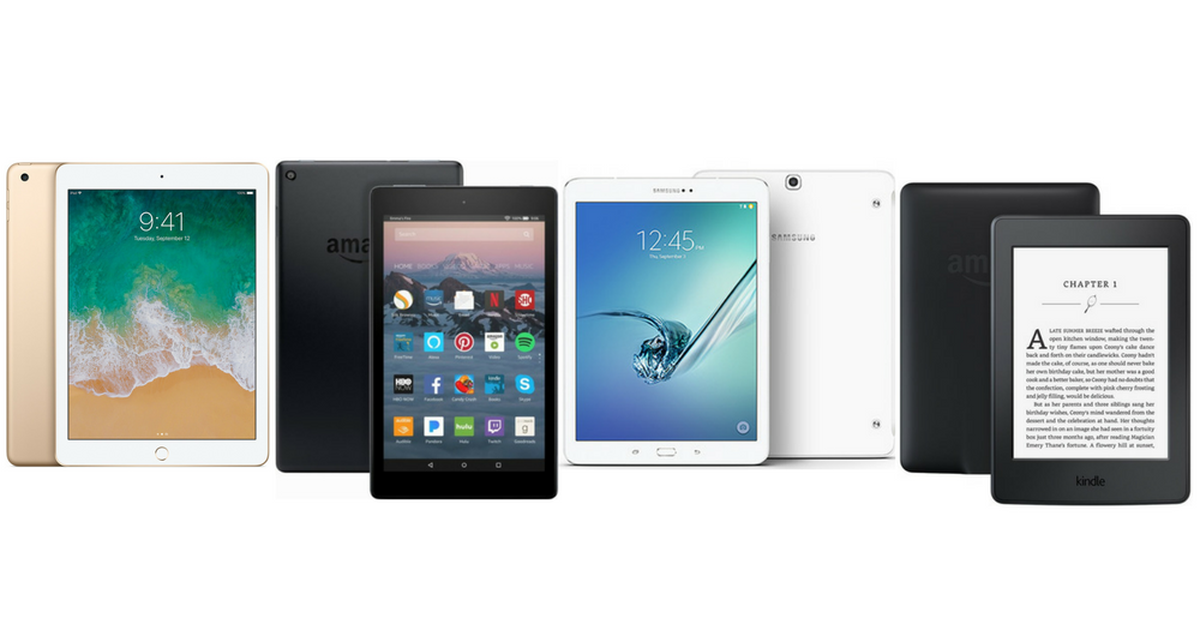 Apple iPad vs  Fire HD vs  Kindle vs  Samsung Galaxy Tab: Which to
