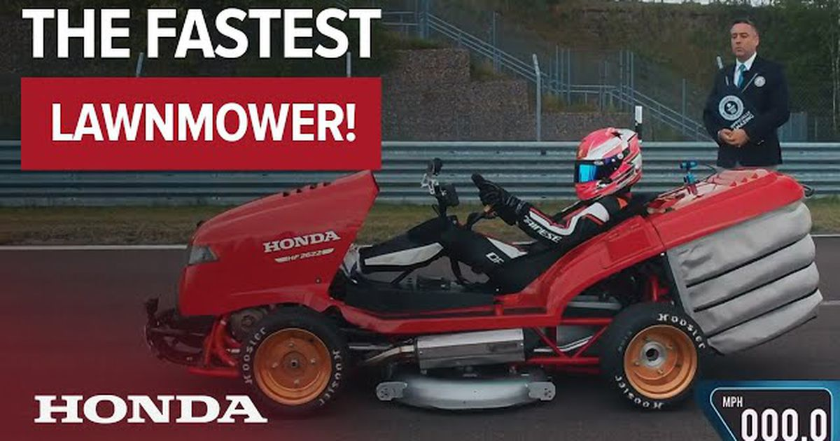 Honda S Latest Mean Mower Is The Fastest Accelerating